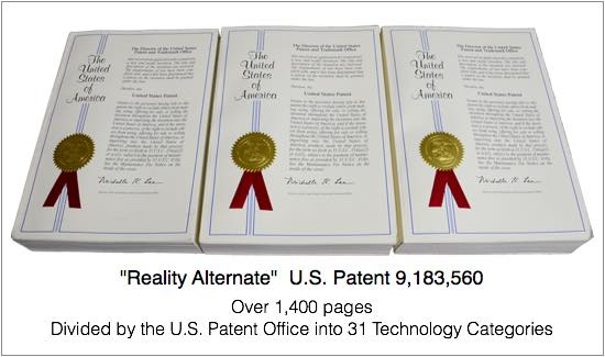"Expandiverse Digital Earth Technology:  The ""Reality Alternate"" Patent"